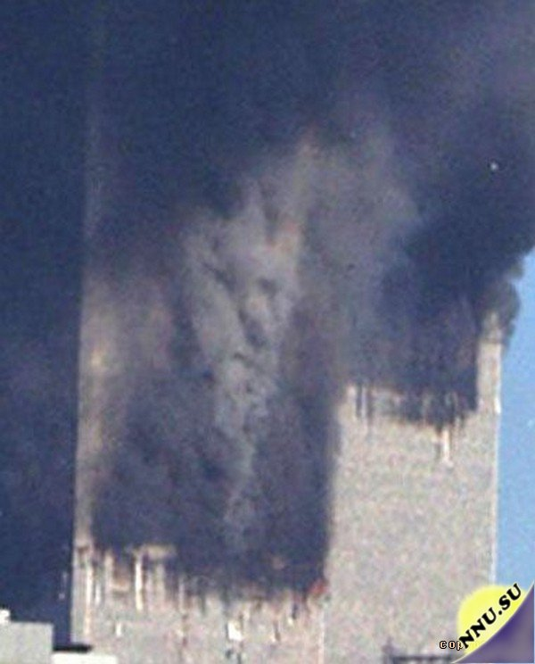 Evil Faces in Smoke of 911