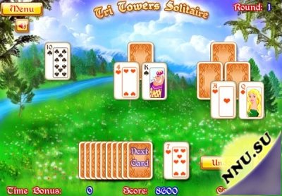 Tri Towers Solitaire Game (флеш игра)